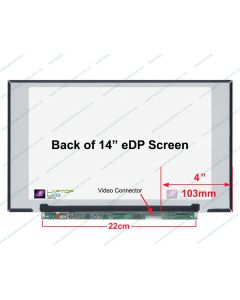 Chi Mei N140HCA-EBC Replacement Laptop LCD Screen Panel