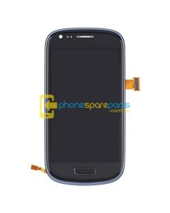 Galaxy S3 Mini i8190 LCD and Touch Screen Assembly with Frame Blue - AU Stock
